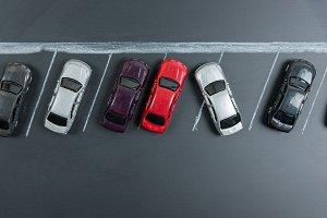 miniature car in car parking