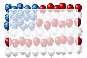 Vector USA balloons background