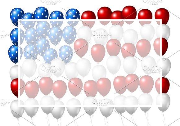 Vector USA Balloons Background