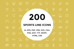 200 Sports Line Icons