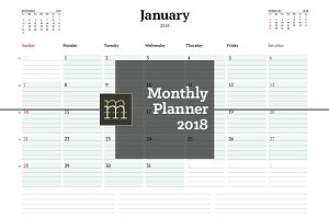 Monthly Planner 2018 (MP021-18)