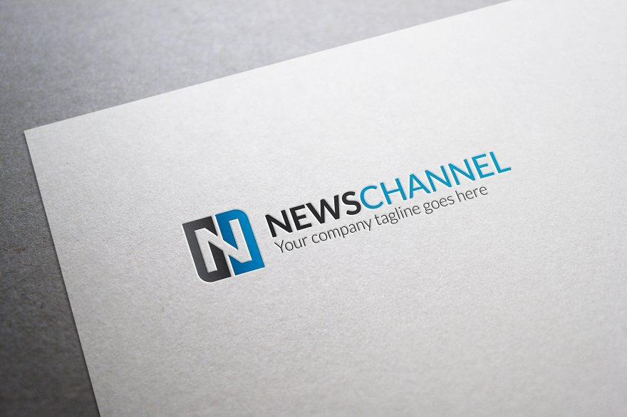 Veranno logo template logo templates creative market pro news channel letter n logo maxwellsz