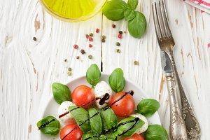Traditional Italian Caprese salad