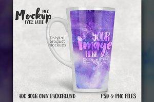 17 ounce latte mug mockup