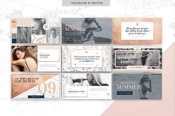 CANVA & PPT   Rose Gold Social Media