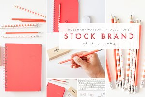 Coral Office Styled Photo Bundle