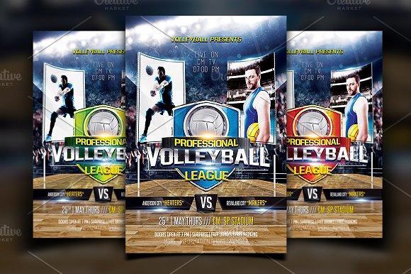 volleyball flyer flyer templates creative market