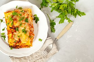 traditional Italian meat lasagna