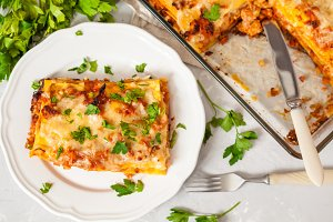 traditional Italian meat lasagna