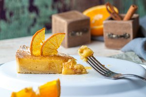 Orange cake souffle