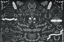 60% OFF! 100 Chalk Drawing Elements