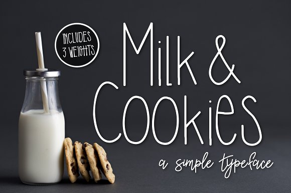 Milk Cookies A Simple Typeface