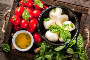 Ingredients for italian food
