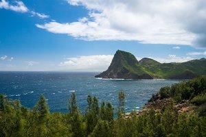 North east coastline of Maui from Kahekili highway