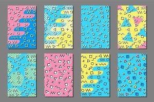 Geometric memphis prints