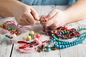 Making of handmade jewellery