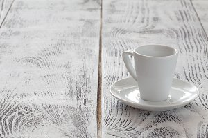 Empty cup for coffee