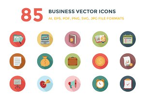 85 Business Vector Icons