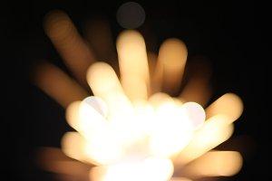 Fireworks golden bokeh