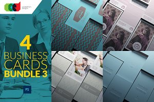 4 Business Cards Bundle 3