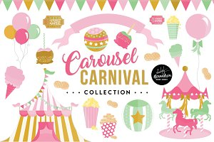 Carousel Carnival Graphics & Pattern