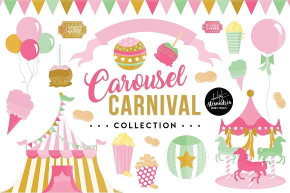 Carousel Carnival Graphics Pattern