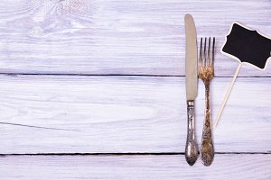 Iron fork and knife