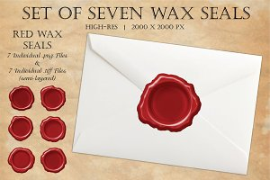Wax Seals - Set of Seven