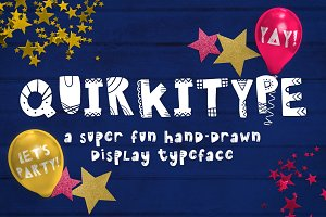 Quirkitype - A Fun Display Typeface