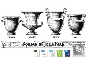 Forms of kraters.