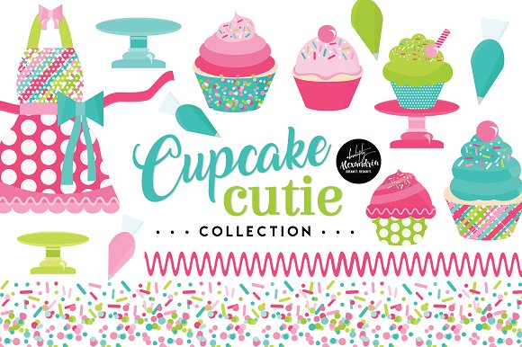 Cupcake Cutie Graphics Patterns