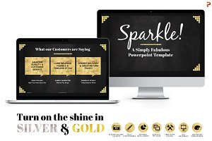 SALE Sparkle Gold Foil PPT Templates