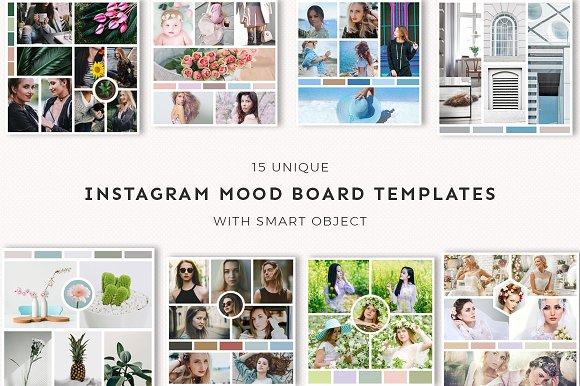 15 instagram mood board templates v3 instagram templates on creative