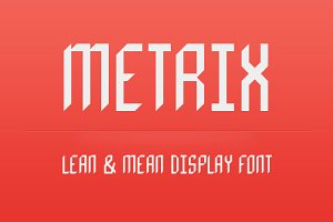 Metrix Display Font