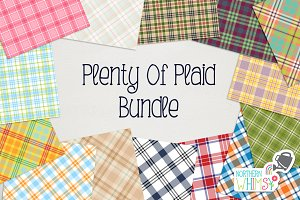 Plaid Diagonal and Seamless Patterns