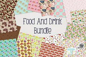 Food & Drink Seamless Pattern Bundle