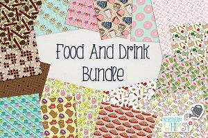 Food & Drink Seamless Pattern Bundle