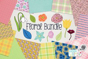 Floral Pattern & Illustration Bundle