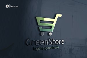 Green Store - Abstract G Letter Logo