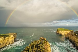 Rainbow over Mutton Bird Island