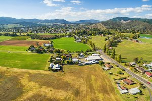 Aerial panorama of Myrtleford