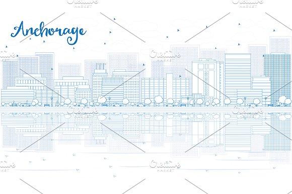 Outline Anchorage Skyline