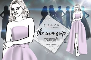 Fashion croqui- The arm grip