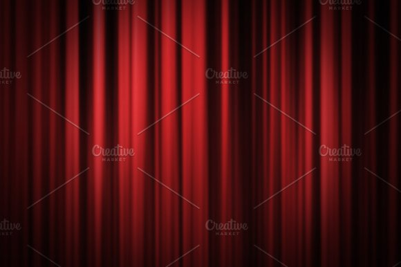 Red stage curtain background