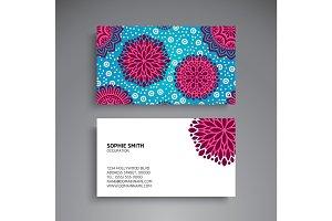 Business Card. Vintage decorative elements