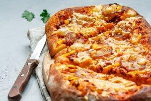 homemade Italian meat pie (pizza)