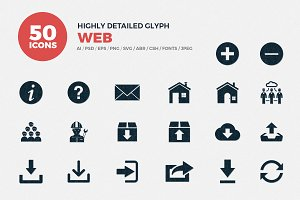 JI-Glyph Web Icons Set