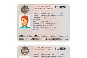 Myanmar visa template