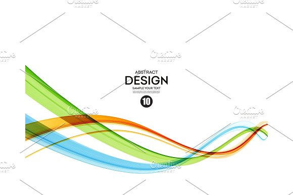 Colorful Vector Lines Abstract Background