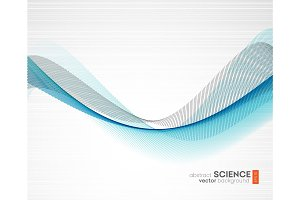 Abstract vector background, futuristic wavy